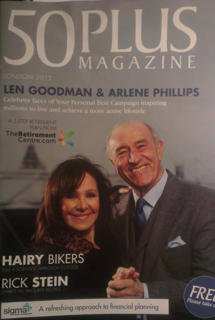50 Plus Magazine Len Goodman and Arlene Phillips Cover