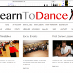 Learn To Dance Website from 2013