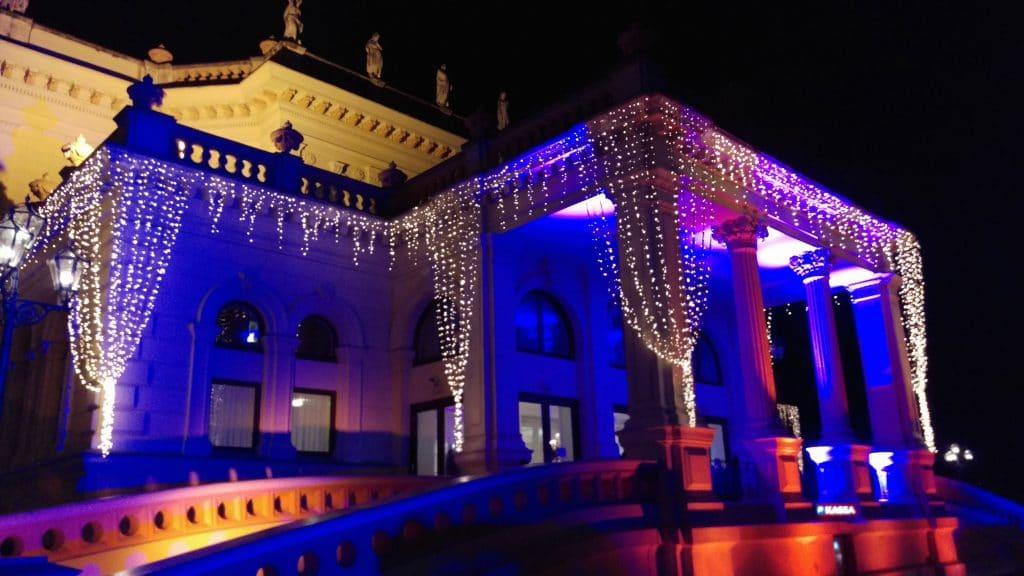 Johann Strauss Ball Vienna Dance Break Weekend Venue Lit Up