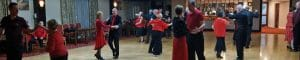 Black and red themed night at our Glastonbury Dance Weekend