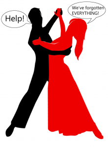 Ballroom & Latin American dancers out of practice