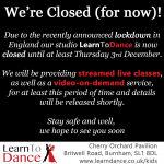 Lockdown Closure and Online Dance Lessons Announcement