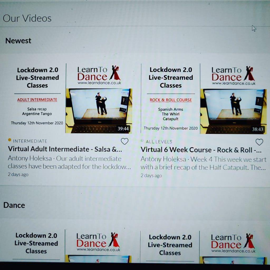 Dance videos on demand