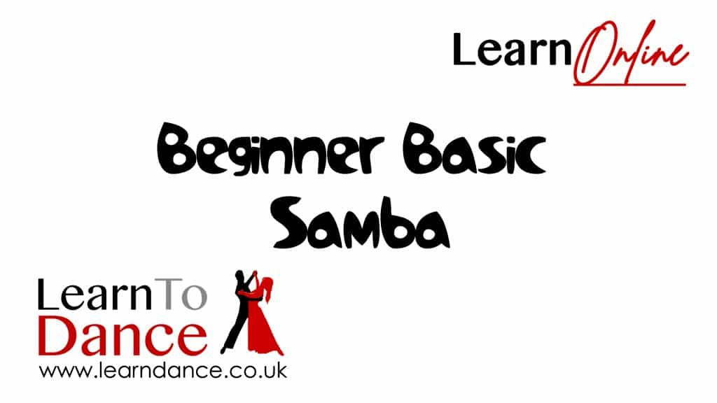 beginner basic samba text on a Learn To Dance branded background