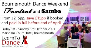 2021 Bournemouth Dance Weekend Foxtrot & Samba advert