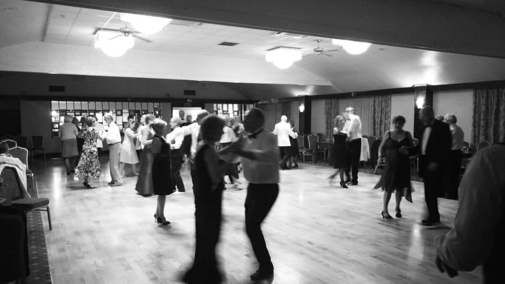 Black & white picture of dancers on our Glastonbury dance break weekend.