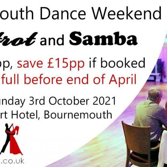 2021 Bournemouth Dance Weekend Foxtrot & Samba advert